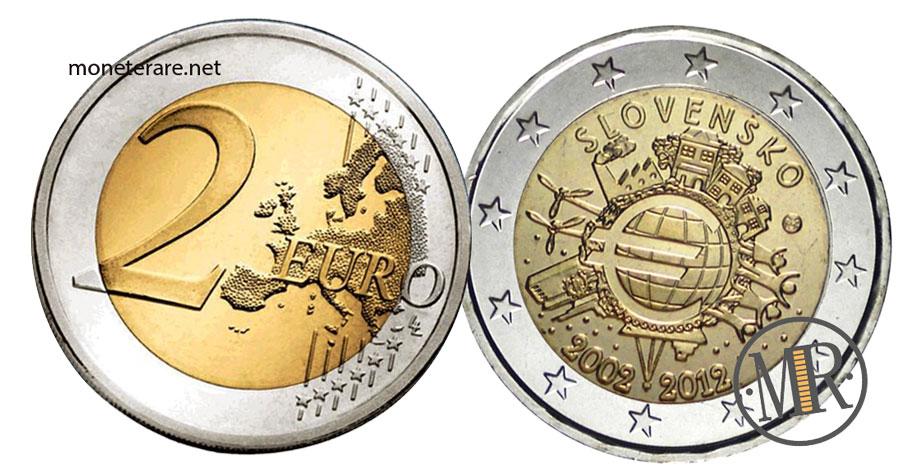Slovakia 2 Euro Coins 2012 - Euro Slovensko 2002-2012