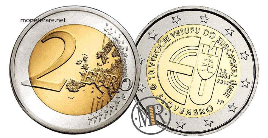 Slovakia 2 Euro Coins 2014 - 10th Anniversary Accession to the European Union