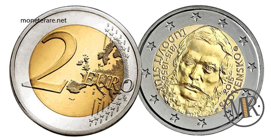 Slovakia 2 Euro Coins 2015 - 200° Anniversario della nascita Ľudovít Štúr