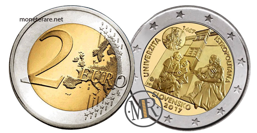 Slovakia 2 Euro Coins 2017 - 550° Ann. UNIVERZITA 1467 ISTROPOLITANA