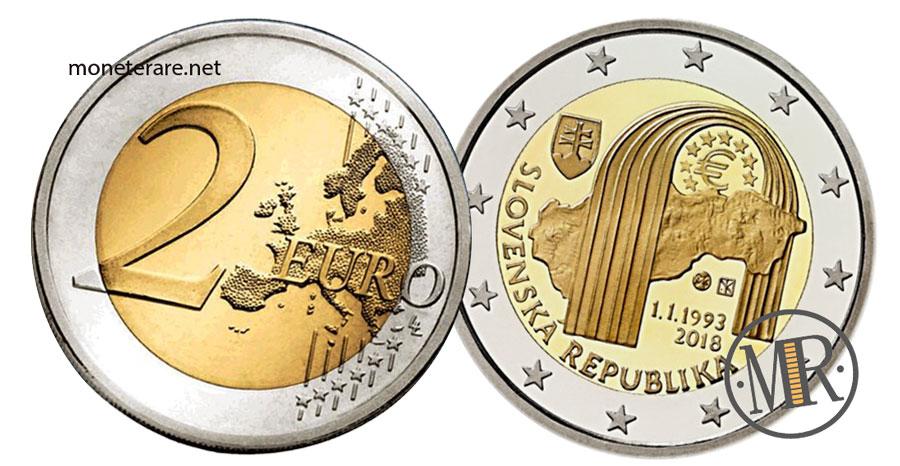 Slovakia 2 Euro Coins 2018 - 25° Ann. SLOVENSKÁ REPUBLIKA