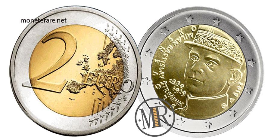 Slovakia 2 Euro Coins 2019 - 100° Ann. Milan Rastislav Štefánik