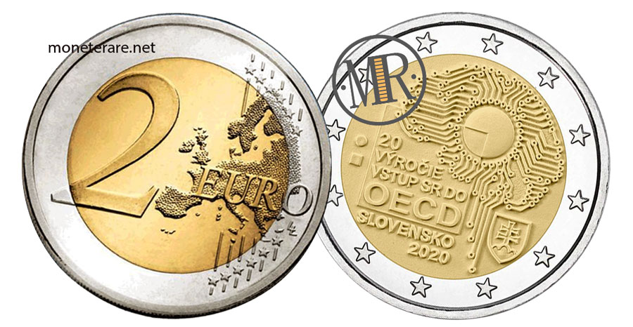 2 Euro Commemorativi Slovacchia 2020 Organizzazione per la cooperazione e lo sviluppo economico