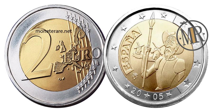 2 Euro Commemorativi Spagna 2005 Don Chisciotte