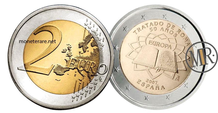 2 Euro Commemorativi Spagna 2007 Trattati di Roma