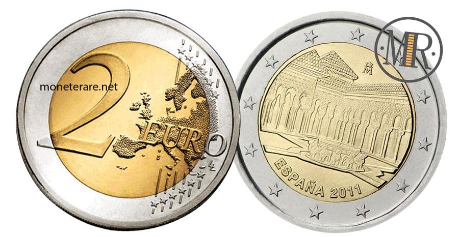 2 Euro Spagna 2011 Commemorativi  Corte dei leoni di Granada  Patrimonio dell'Umanità