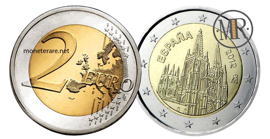 2 Euro Commemorativi Spagna 2012 Cattedrale di Burgos  Patrimonio dell'Umanità