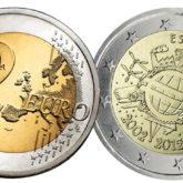 2 Euro Spagna 2012 – 10 Anni di Banconote e Monete in Euro