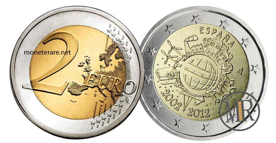 2 Euro Commemorativi Spagna 2012 Euro