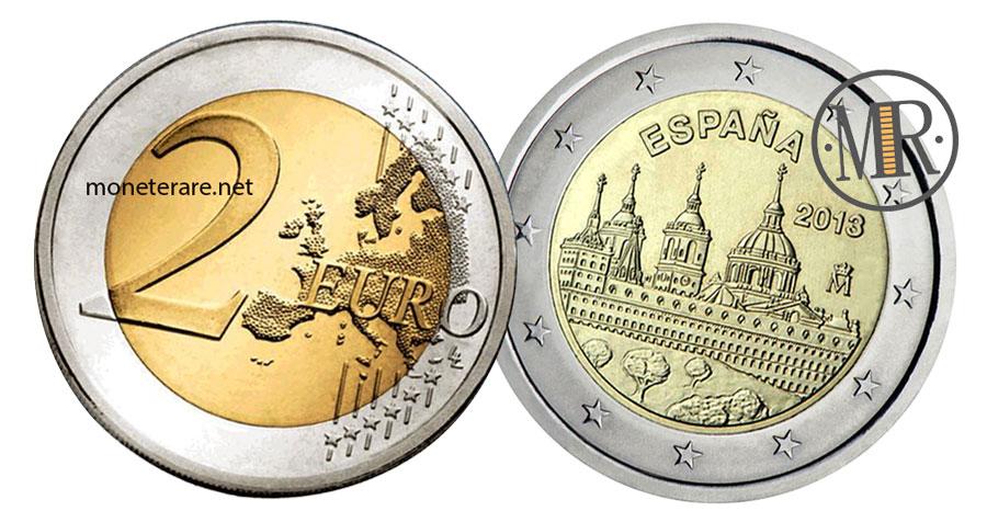 2 Euro Commemorativi Spagna 2013 San Lorenzo del Escorial