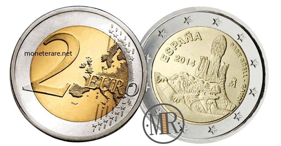 Value of  2 Euro Spain 2014 - Park Güell Gaudì