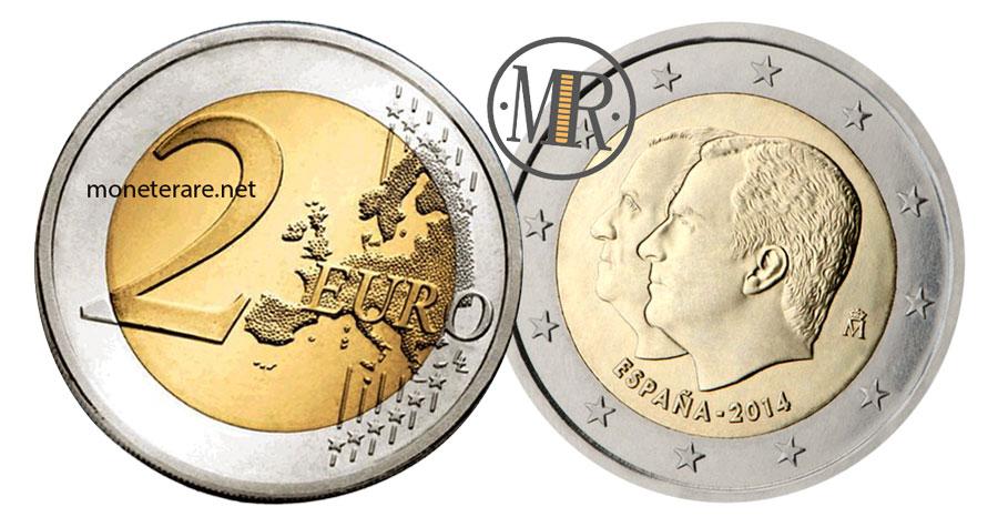 2 Euro Commemorativi Spagna 2014 Successione al Trono