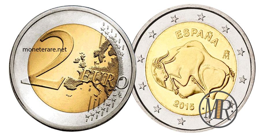 2 Euro Spagna 2015 Commemorativi Grotta di Altamira