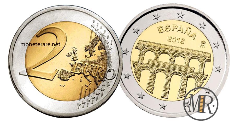 2 Euro Commemorativi Spagna 2016 Acquedotto di Segovia
