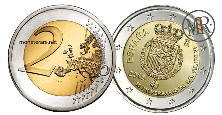 2 Euro Commemorativi Spagna 2018 Re Felipe VI