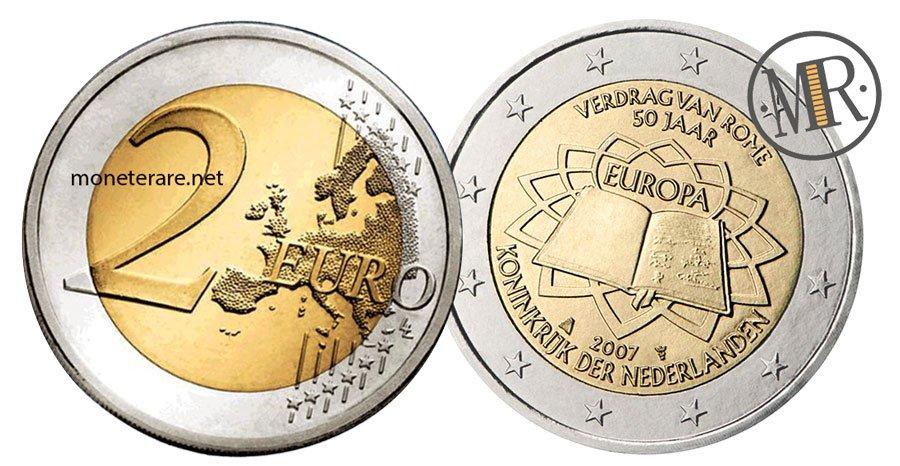 2 Euro Commemorativi Olanda 2007 Trattati di Roma
