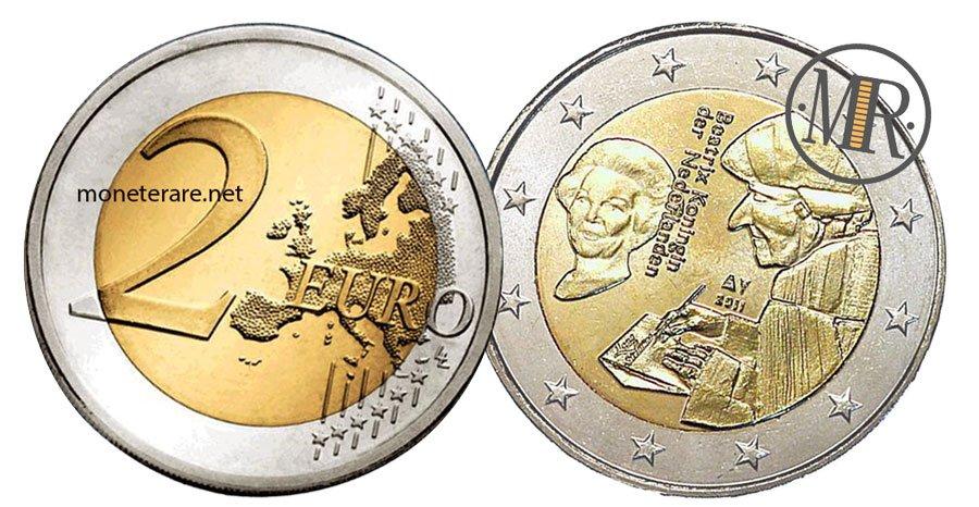 2 Euro Commemorativi Olanda 2011 Elogio della Follia