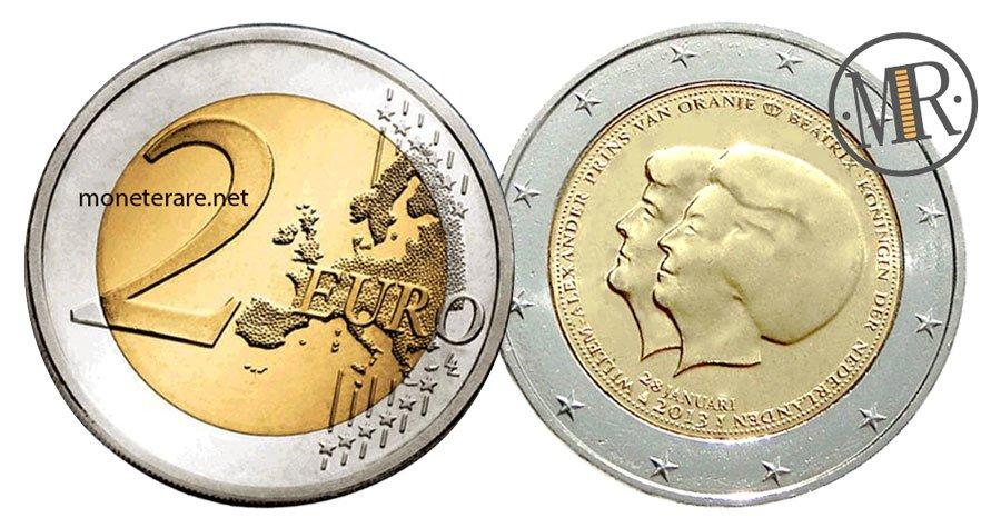 2 Euro Commemorativi Olanda 2013 Regina Beatrice