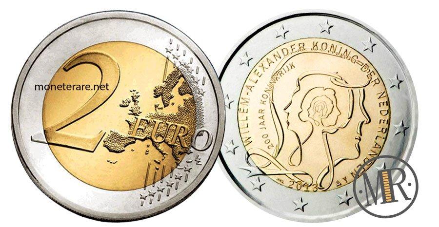 2 Euro Commemorativi Olanda 2013 Regno