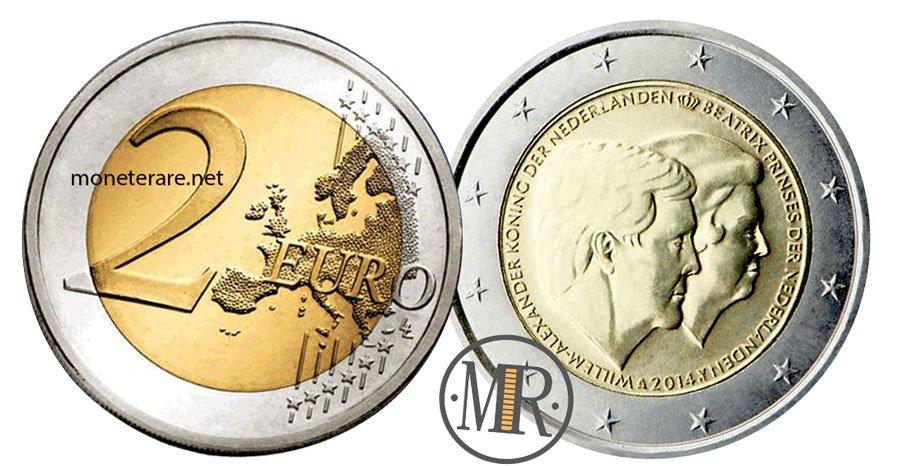2 Euro Commemorativi Olanda 2014 Regina Beatrice