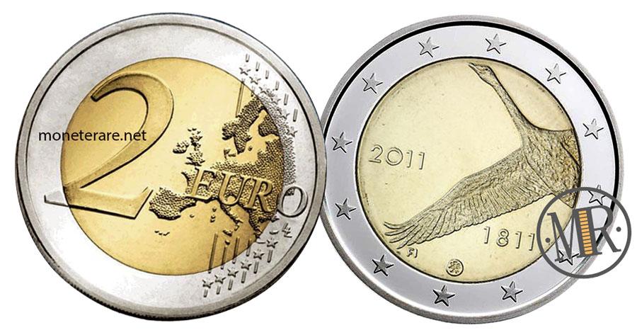 2 Euro Commemorative Finlandia 2011 Banca Centrale Cigno
