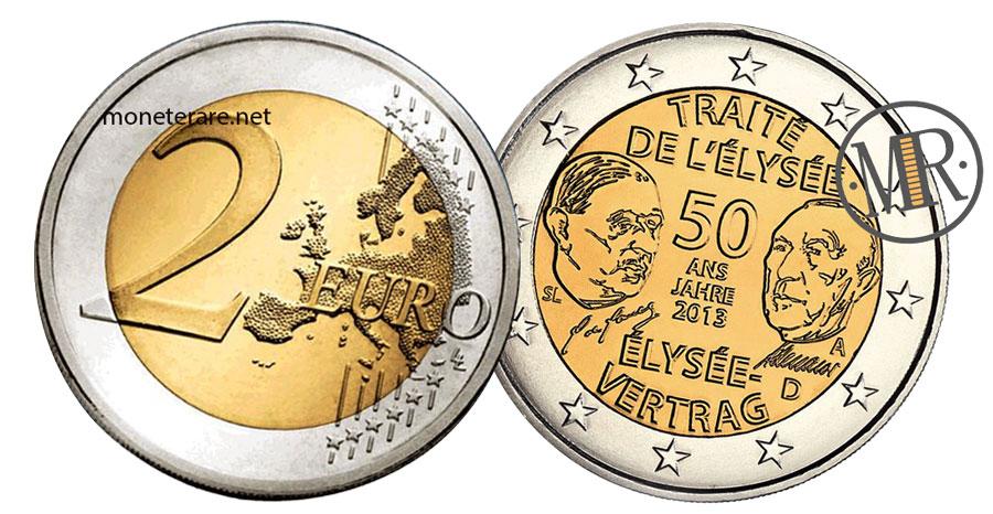 2 Euro Commemorativi 2013 Germania Trattato di Eliseo