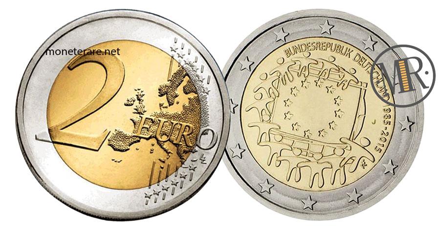 2 Euro Commemorativi 2015 Germania Bandiera Europea