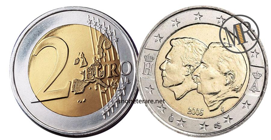 2 Euro Commemorativi Belgio 2005 Unione Economica