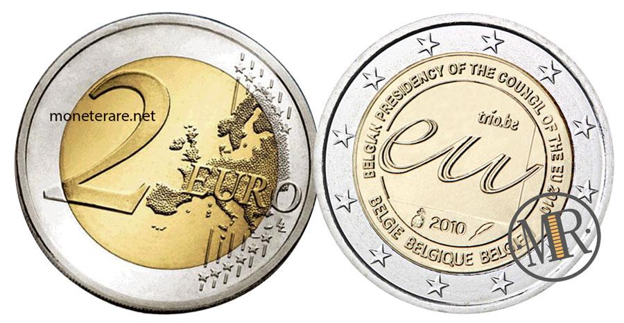 2 Euro Commemorativi Belgio 2009 Presidenza Belga UE