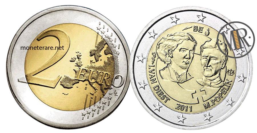 2 Euro Commemorativi Belgio 2011 Giornata della Donna