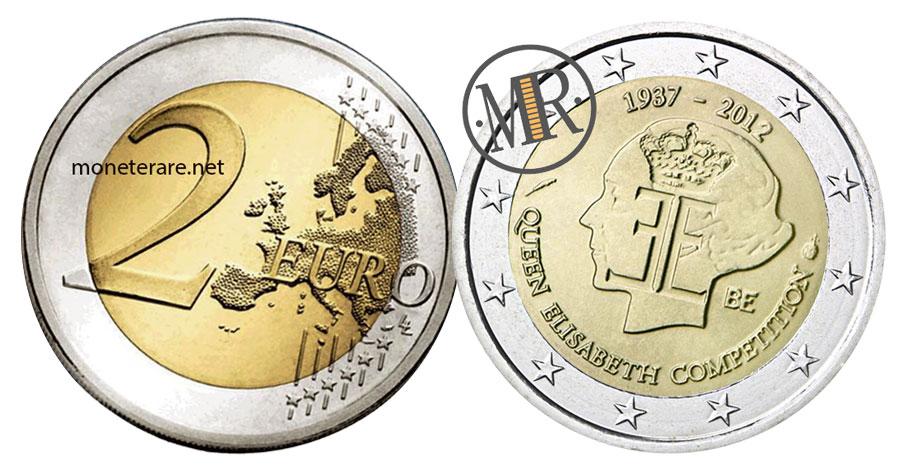 2 Euro Commemorativi Belgio 2012 Regina Elisabetta