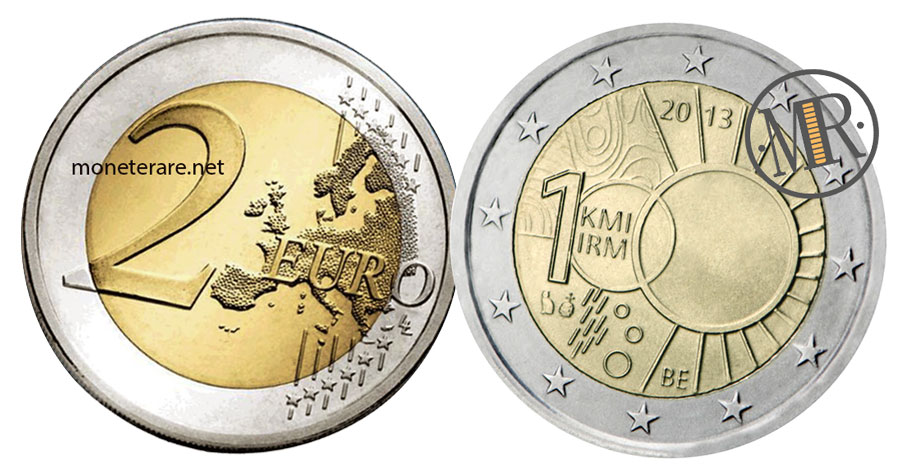 2 Euro Commemorativi Belgio 2013 Istituto Meteorologico Reale