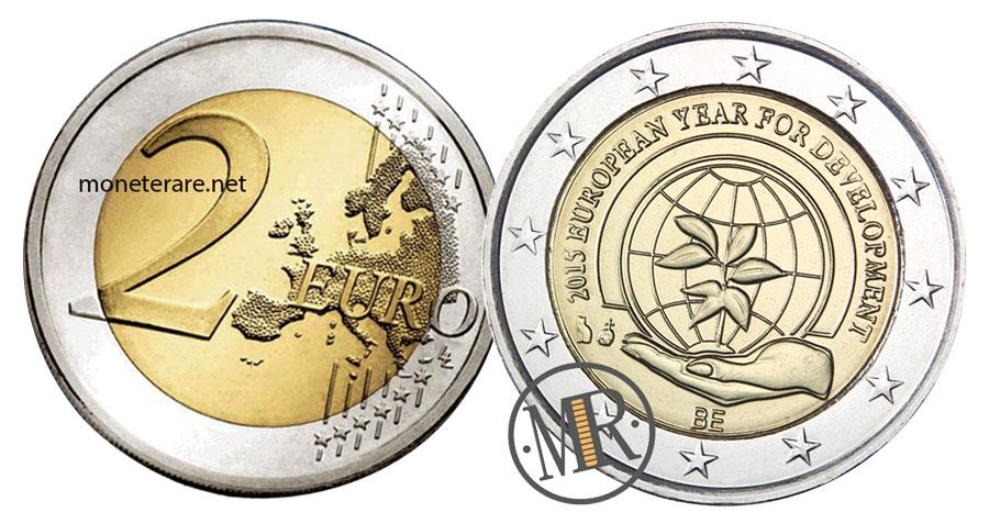 2 Euro Commemorativi Belgio 2015 Anno per lo Sviluppo