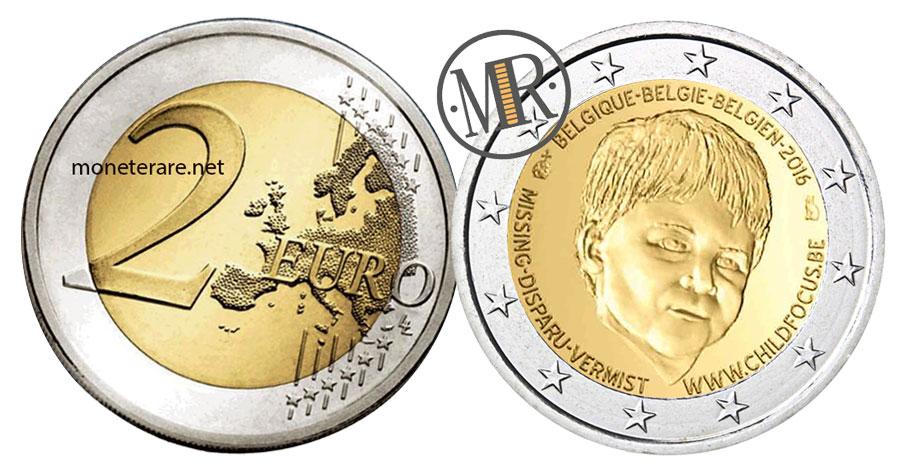2 Euro Commemorativi Belgio 2016 Bambini Scomparsi