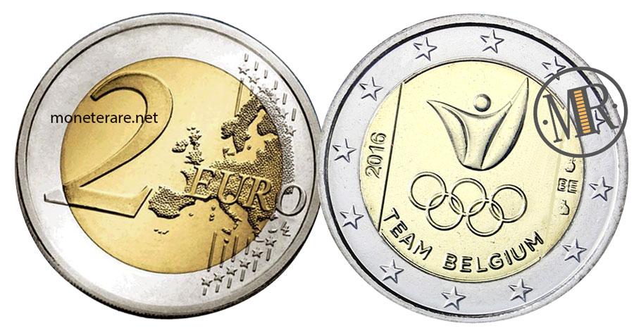 2 Euro Commemorativi Belgio 2016 Giochi Olimpici