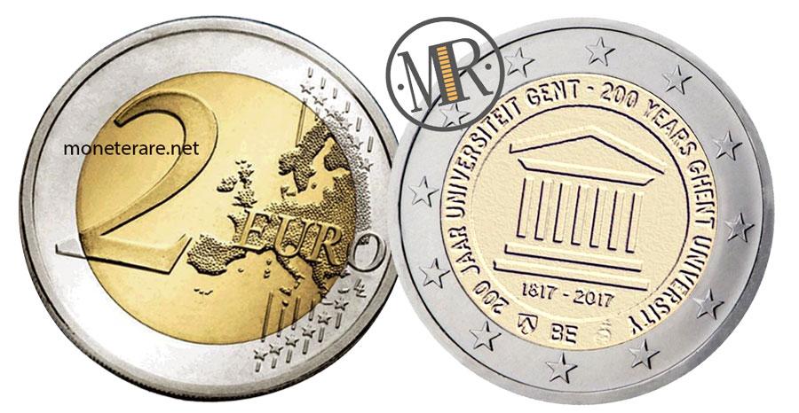 2 Euro Commemorativi Belgio 2017 Università di Gent