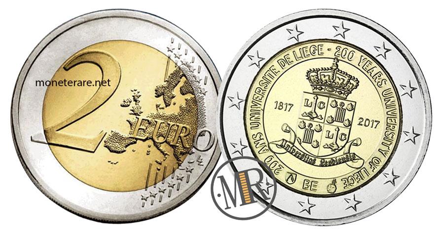 2 Euro Commemorativi Belgio 2017 Università di Liegi