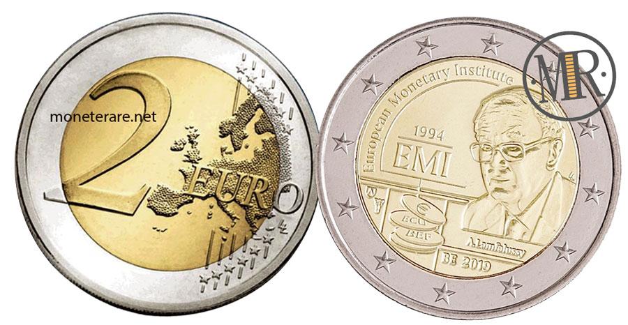 2 Euro Belgio 2019 Commemorativi  Istituto Monetario Europeo IME