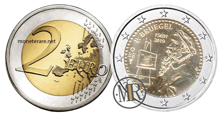 2 Euro Commemorativi Belgio 2019 Pieter Bruegel il Vecchio