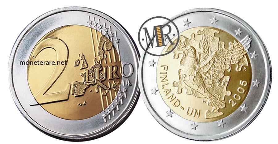 2 Euro Commemorativi Finlandia 2004 - ONU