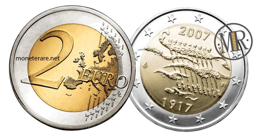 2 Euro Commemorativi Finlandia 2007 - Anniversario Indipendenza della Finlandia