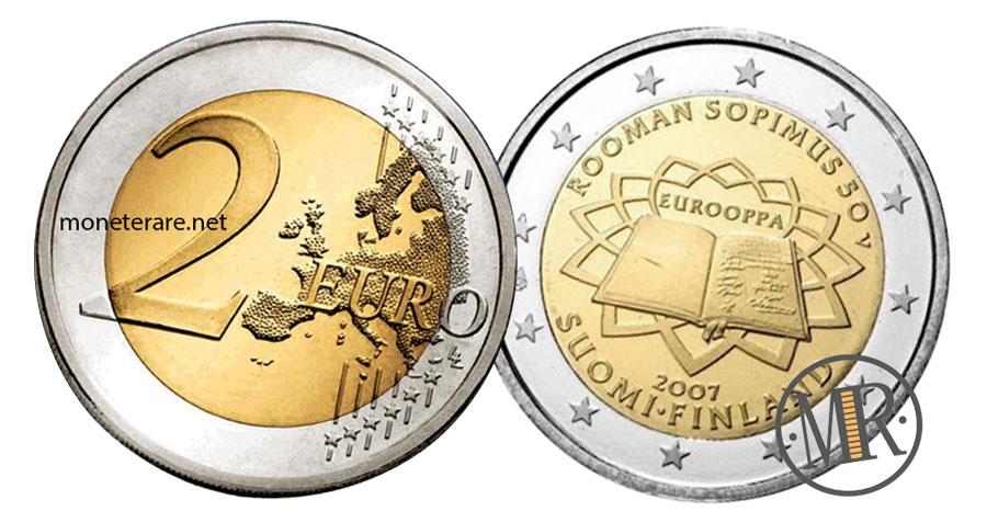 2 Euro Commemorativi Finlandia 2007 - Anniversario Trattato di Roma