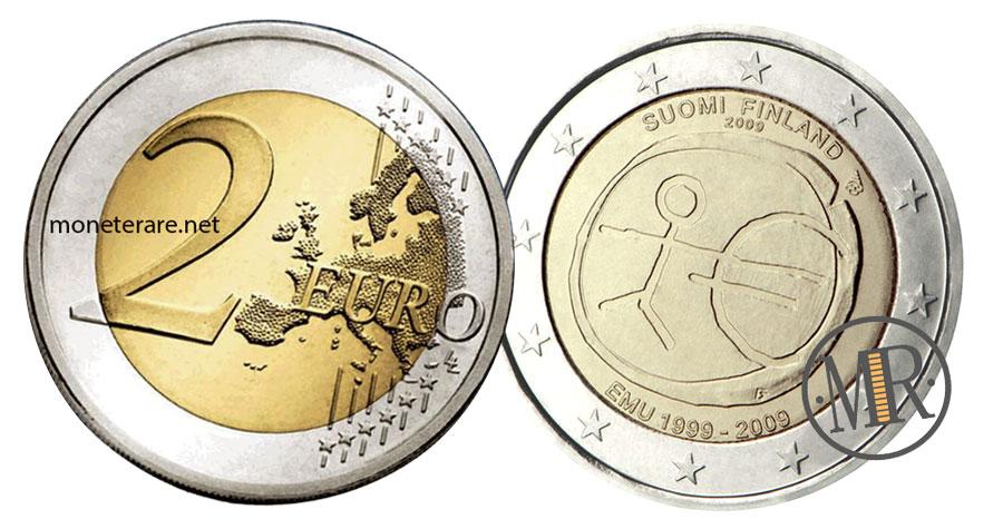 2 Euro Commemorativi Finlandia 2009 - Unione Economica Monetaria