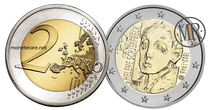 2 Euro Commemorativi Finlandia 2012 - Helene Schjerfbeck