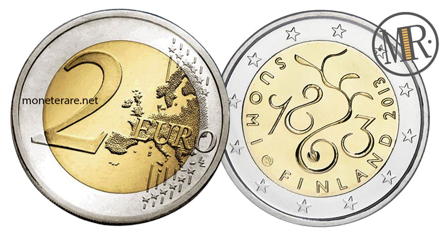 2 Euro Commemorativi Finlandia 2013 - Parlamento