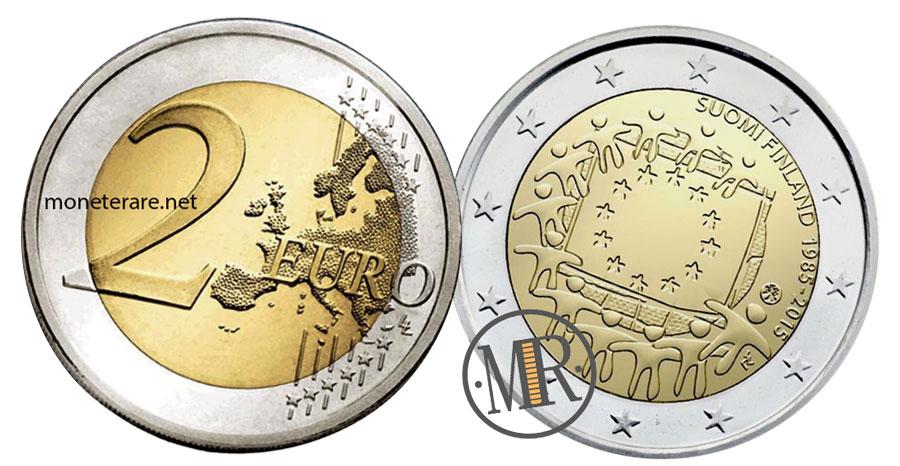 2 Euro Commemorativi Finlandia 2015 - Bandiera Europea
