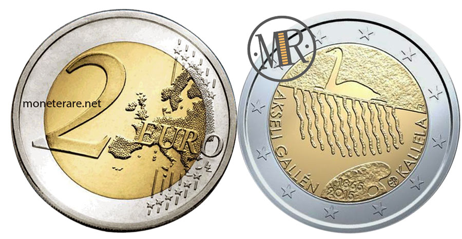 2 Euro Commemorativi Finlandia 2015 - Ilmari Tapiovaara