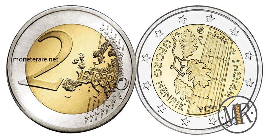 2 Euro Commemorativi Finlandia 2016 - Georg Henrik von Wright