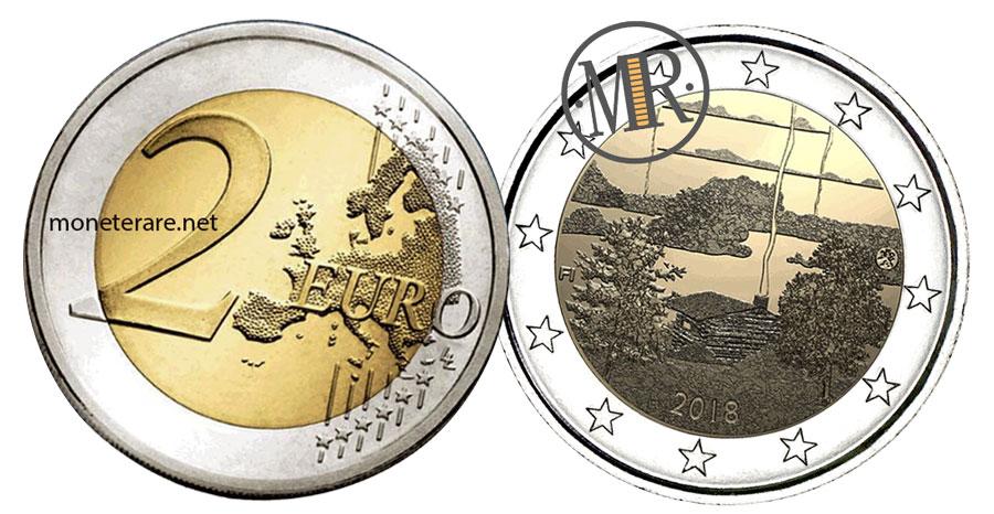 2 Euro Commemorativi Finlandia 2018 - Parco di Koli