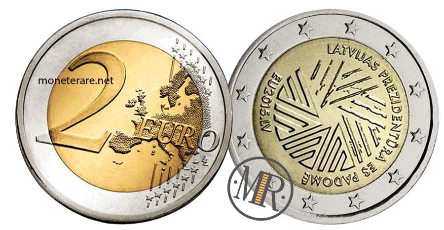 2 Euro Commemorativi Lettonia 2014 - Presidenza del Consiglio UE